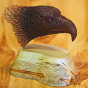 Wood carving of an eagle