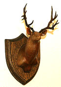 View larger Wood Carved Deer Head Plaque